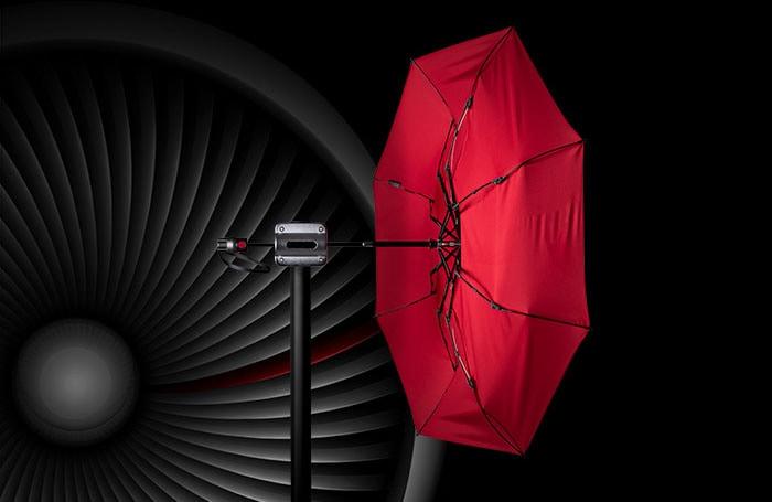 Knirps-Regenschirm-T200-im-Windkanal