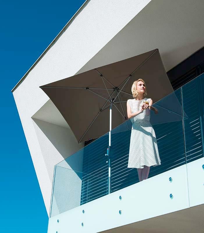 Knirps-Sonnenschirm-Silver-Balkonschirm